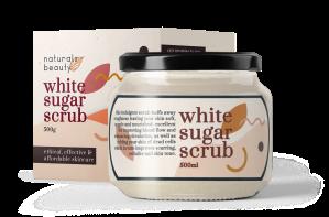white sugar scrub & jar